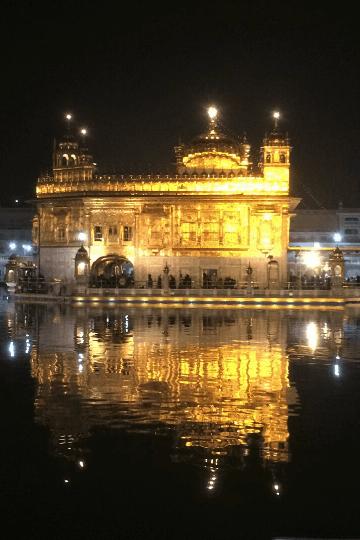 Golden Temple in Amritsar at night