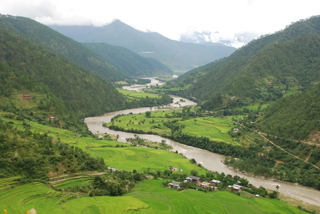 Punakha Valley in Bhutan