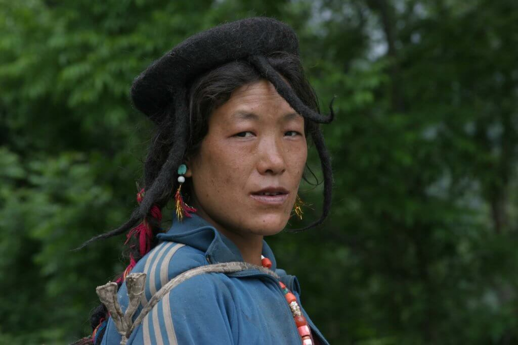 Portrait of a Bhutanese Girl
