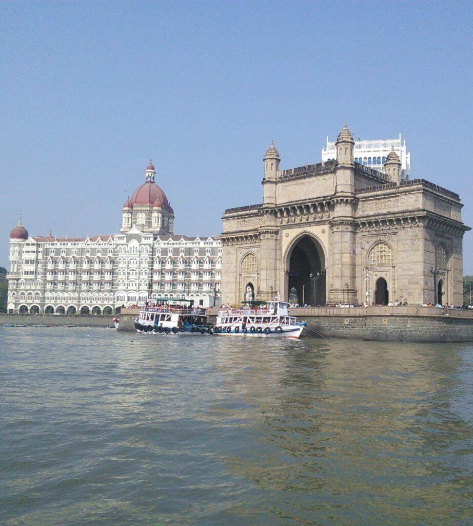 Gateway of India with the Iconic Taj Mahal Palace hotel