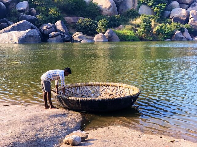 The heart of the Deccan Hampi coracle