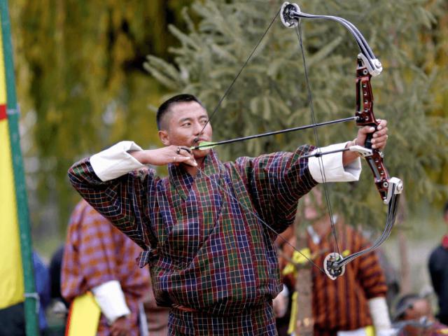 An archer in Bhutan