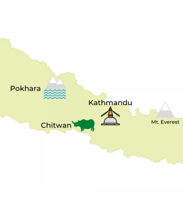 Nepal Travel Destinations Map by Jasmine Trails